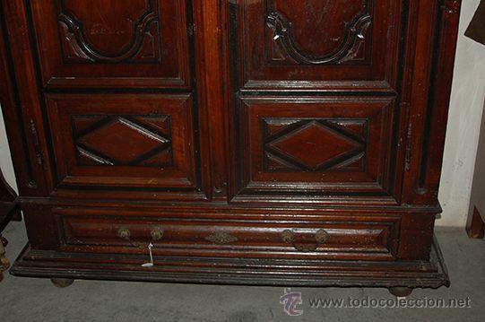 Antigüedades: Armario del Barroco Carlos III de nogal, siglo XVIII - Foto 12 - 45574497