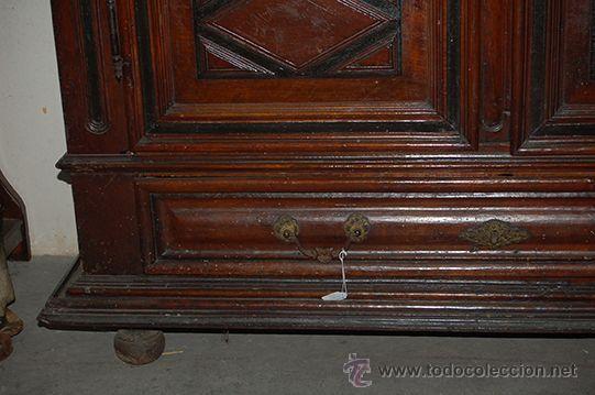 Antigüedades: Armario del Barroco Carlos III de nogal, siglo XVIII - Foto 13 - 45574497