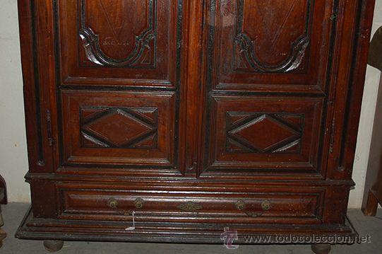 Antigüedades: Armario del Barroco Carlos III de nogal, siglo XVIII - Foto 15 - 45574497