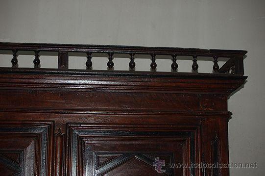 Antigüedades: Armario del Barroco Carlos III de nogal, siglo XVIII - Foto 18 - 45574497