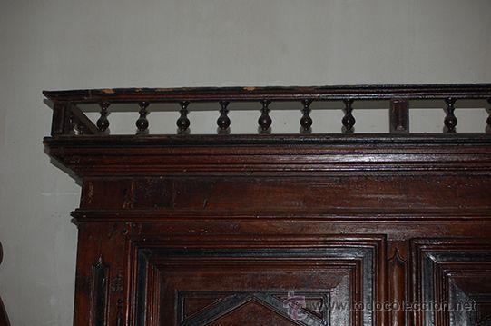 Antigüedades: Armario del Barroco Carlos III de nogal, siglo XVIII - Foto 19 - 45574497