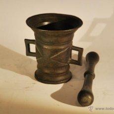 Antigüedades: MORTERO DOMESTICO EN BRONCE. Lote 45586958