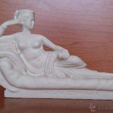 Antigüedades: ESCULTURA DE PAOLINA BONAPARTE EN ALABASTRO O MARMOLINA .. Lote 45579999