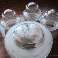 Antigüedades: TULIPA DE CRISTAL PARA LAMPARA . Lote 45595176
