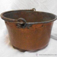 Antigüedades: ANTIGUA CALDERA DE COBRE - 34 CM -. Lote 45596005