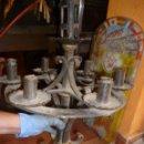 Antigüedades: PORTACIRIOS Y VELAS. Lote 45596323