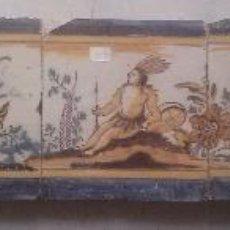 Antigüedades: EXCEPCIONAL CONTRAHUELLA DE CERAMICA TRIANA SIGLO XVII. Lote 45596947