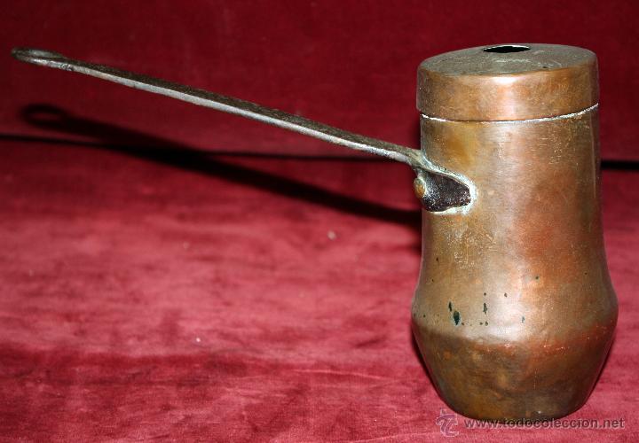Antigüedades: CHOCOLATERA CATALANA REALIZADA EN COBRE DE MEDIADOS DEL SIGLO XIX - Foto 4 - 45598627