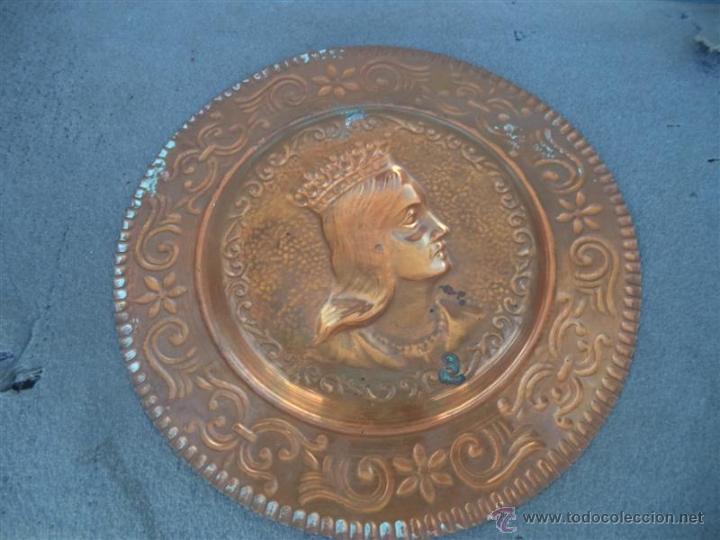 Antigüedades: plato de cobre - Foto 2 - 45606795