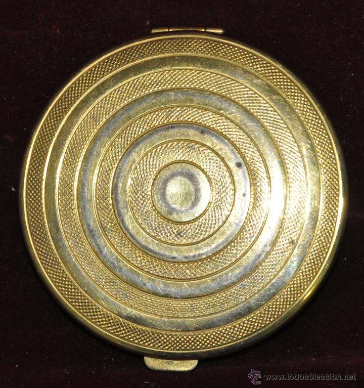 Antigüedades: PRECIOSA POLVERA EN METAL. AÑOS 30 - Foto 2 - 45612503