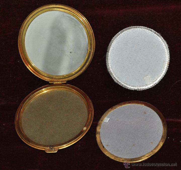 Antigüedades: PRECIOSA POLVERA EN METAL. AÑOS 30 - Foto 3 - 45612503