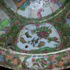 Antigüedades: PIEZA ORIGINAL DE MUSEO PALANGANA JARRON CHINO CANTÓN SIGLO XVIII / XIX GRAN TAMAÑO LEER. Lote 45612820