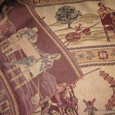 Antigüedades: 1,70 X 227 MTS TELA DE TAPIZ . Lote 45614584
