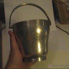Antigüedades: CUBITERA INGLESA EN PLATA EPNS. GRABADA A MANO. COMPLETA. 1920-1930.. Lote 45615100