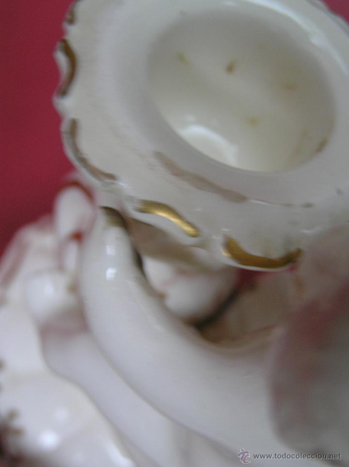 Antigüedades: PALMATORIA de loza esmaltada decorada con filetes al oro . Siglo XVIII. - Foto 12 - 45619624