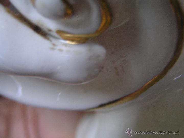 Antigüedades: PALMATORIA de loza esmaltada decorada con filetes al oro . Siglo XVIII. - Foto 17 - 45619624
