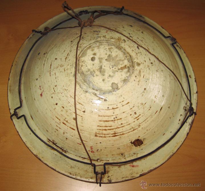 Antigüedades: GRAN PLATO ETAPA DE DECADENCIA DE REFLEJO METALICO DE MANISES SIGLO XVIII. MOTIVO EL PARDALOT - Foto 3 - 45623262