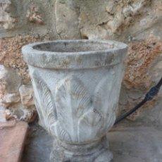 Antigüedades: MACETERO REDONDO Y PIE. Lote 45624676