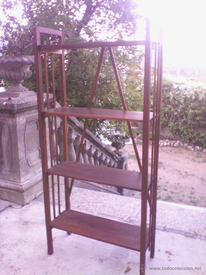 ESTANTERÍA DE MADERA (Antigüedades - Muebles Antiguos - Auxiliares Antiguos)