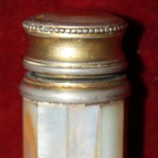 Antigüedades: PERFUMERO ATOMIZER MARCEL FRANCK EN NACAR. CIRCA 1920. Lote 45639917