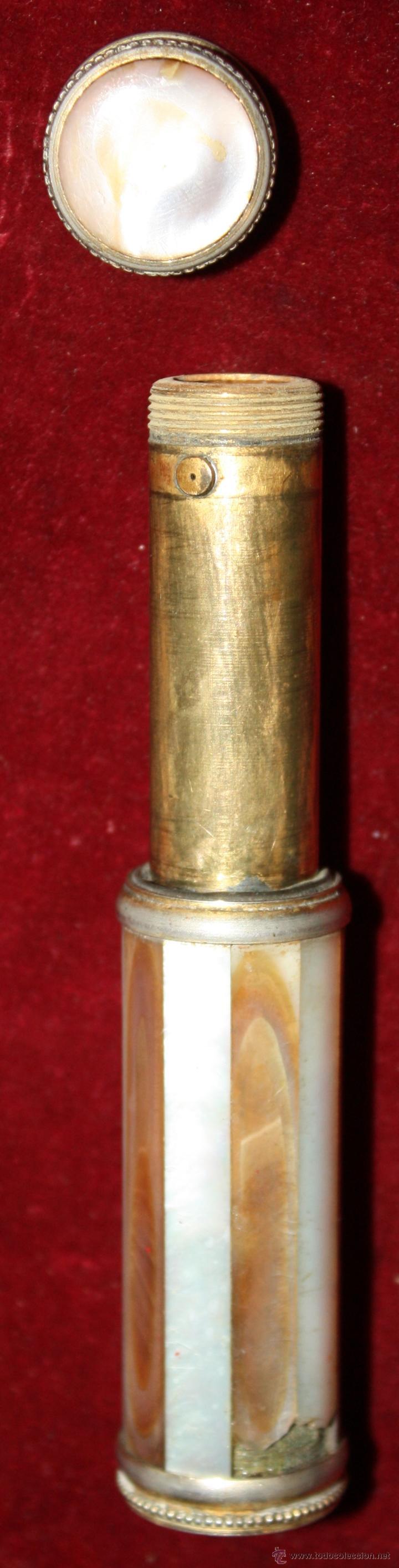 Antigüedades: PERFUMERO ATOMIZER MARCEL FRANCK EN NACAR. CIRCA 1920 - Foto 4 - 45639917