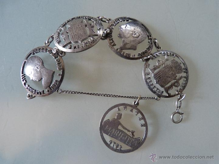 fbfc6ce32587 Pulsera de plata de monedas de alfonso xii y xi - Vendido en Venta ...