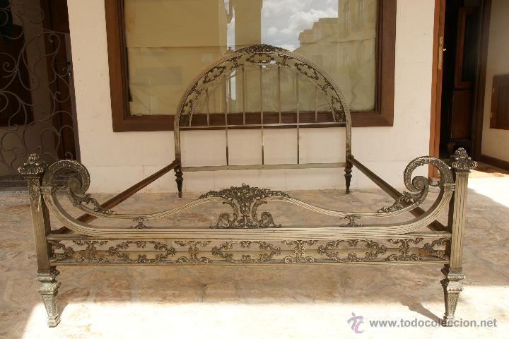 Espectacular cama de bronce maciza 135cm largu comprar for Precio somier 135