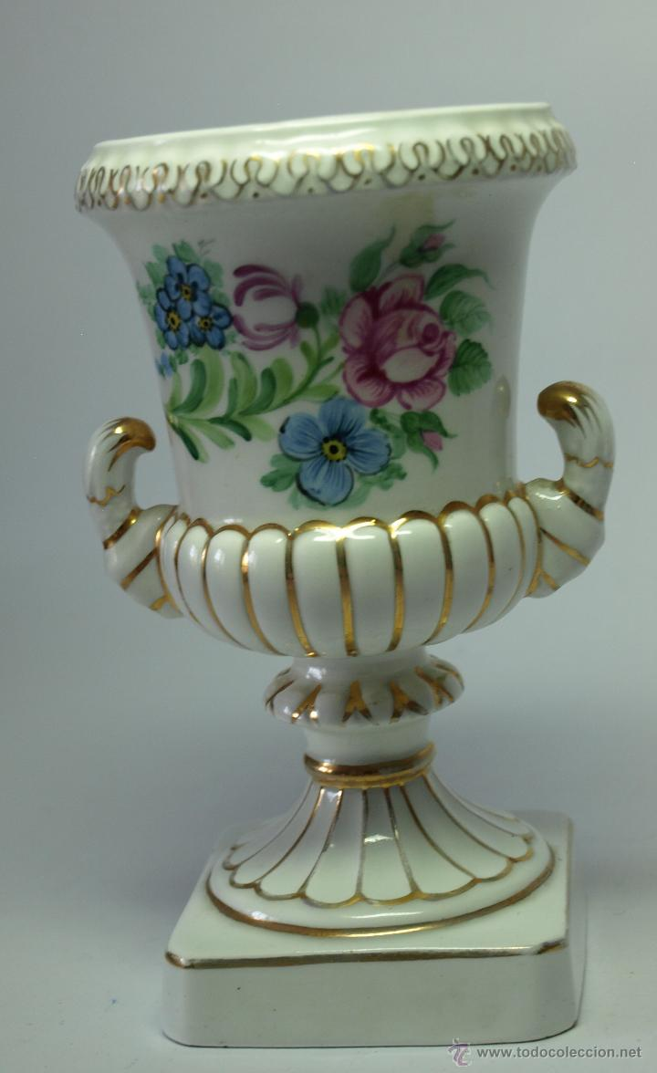Antigua copa de ceramica decoracion floral y d comprar - Ceramica decoracion ...
