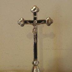 Antigüedades: CRUCIFIJO O CRUZ DE CRISTO , EN METAL , 20 CM. Lote 45666817