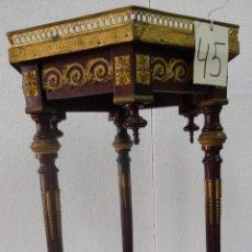Antigüedades: MESA AUXILIAR HEXAGONAL DE TRES PATAS SIGLO XIX- 45. Lote 45670182