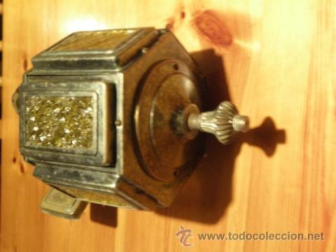Antigüedades: Farol o aplique antiguo con cristales amarillos en relieve - Foto 4 - 45670889