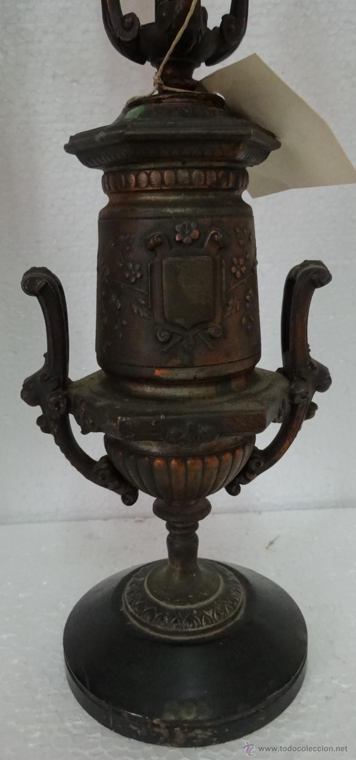 Antigüedades: PAREJA DE CANDELABROS DE CINCO LUCES SIGLO XIX- 202 - Foto 3 - 45672750