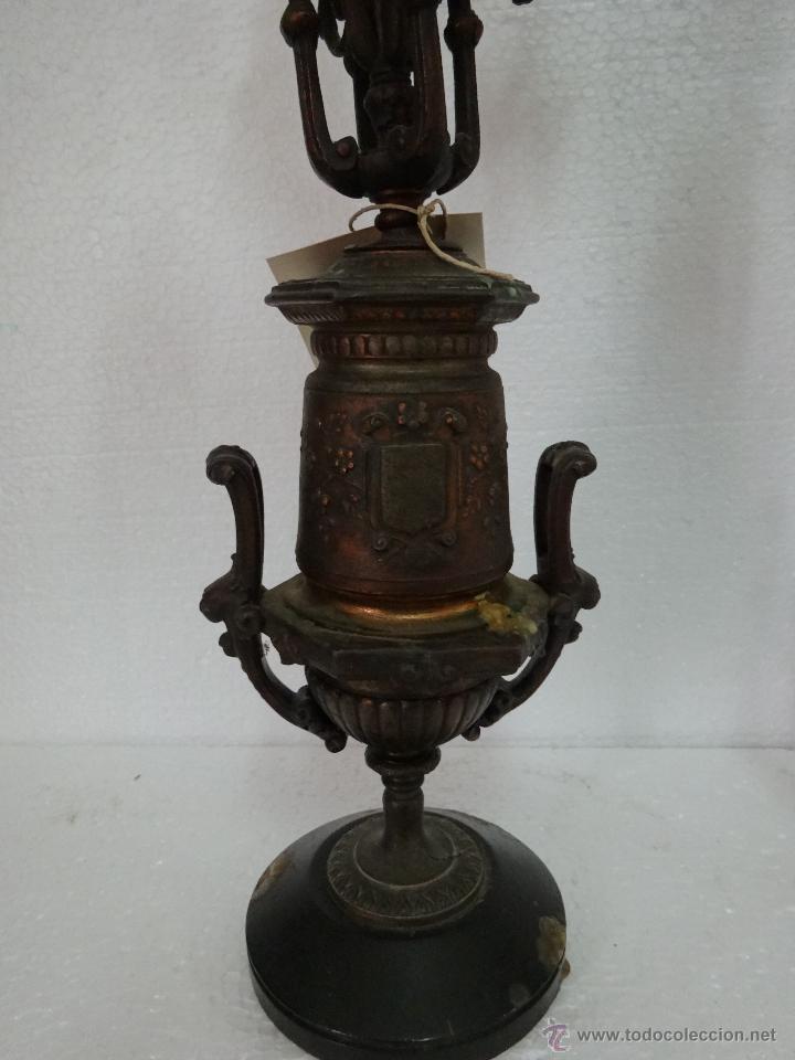 Antigüedades: PAREJA DE CANDELABROS DE CINCO LUCES SIGLO XIX- 202 - Foto 6 - 45672750