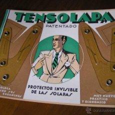 Antigüedades: TENSOLAPA PATENTADO PROTECTOR INVISIBLE DE LAS SOLAPAS. Lote 45680103