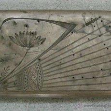 Antigüedades: RUSIA. FINALES XIX. PITILLERA GRABADA CON DIBUJO FLORAL.PUNZONADA 84. Lote 45681264