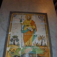 Antigüedades: (M) ANTIGUO PLAFON S. XVIII DE 12 AZULEJOS CATALAN SANT PAU -(SAN PABLO) TODO ORIGINAL DE EPOCA . Lote 45690339