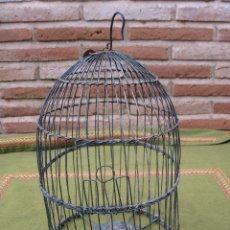 Antigüedades: JAULA ANTIGUA METALICA.HECHA A MANO.. Lote 45694526