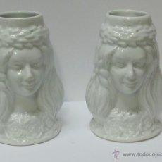Antigüedades: PAREJA DE JARRAS DE PORCELANA. Lote 30931139