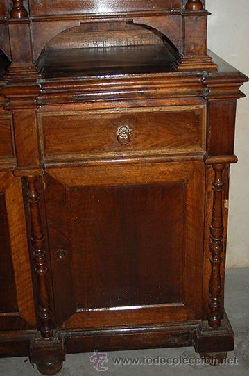 Antigüedades: Antigua Vitrina - Isabelina - 3 puertas - Madera de Nogal - S. XIX - Foto 15 - 45705433