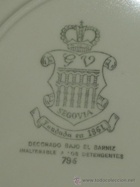 Antigüedades: PLATOS HONDOS Y TAPADERA SOPERA,VARGAS SEGOVIA G V.SELLADOS. - Foto 9 - 45712621