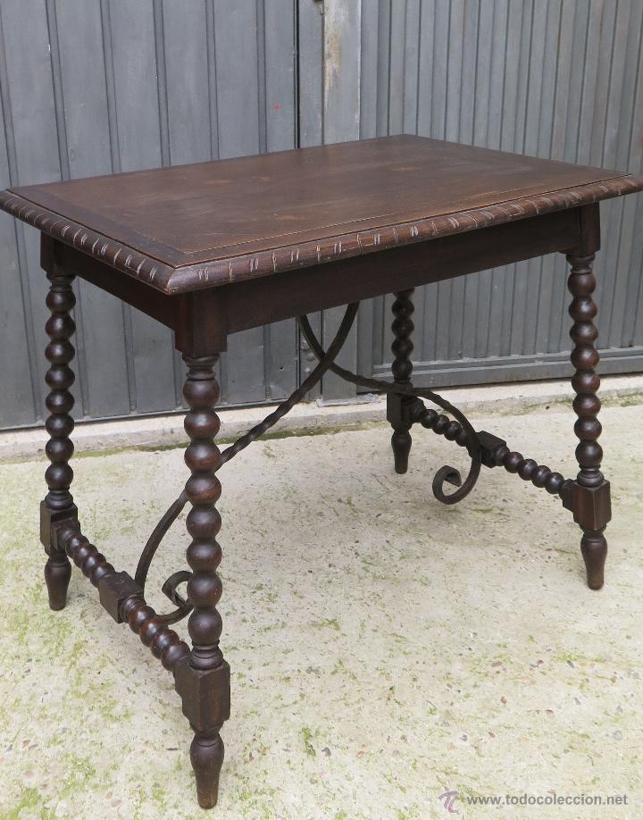 Antigua mesa castellana patas de lenteja prin comprar - Mesas antiguas ...