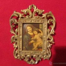 Antigüedades: IMAGEN VIRGEN DE LAS UVAS MARCO METALICO. Lote 45724646