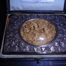 Antigüedades: ANTIGUO CARNET DE BAILE S. XIX EN PLATA DORADA .PLATERO FRCO.ASIS CARRERAS JOYERO-PLATERO DE CAMARA . Lote 45726070