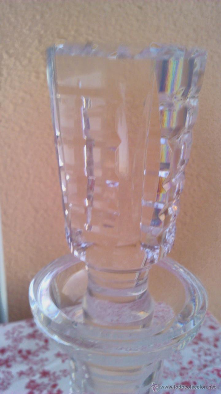 Antigüedades: Antigua y Exquisita licorera de cristal de BOHEMIA tallado. - Foto 5 - 45729448