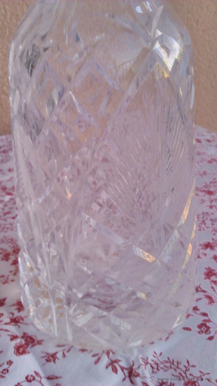 Antigüedades: Antigua y Exquisita licorera de cristal de BOHEMIA tallado. - Foto 6 - 45729448