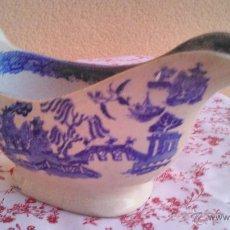 Antigüedades: ANTIGUA SALSERADE LOZA INGLESA MOTIVOS CHINESCOS DE PAGODAS. Lote 50435516