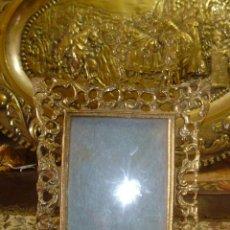 Antigüedades: ANTIGUO MARCO DE BRONCE CALADO COMPLETO .. Lote 45730922