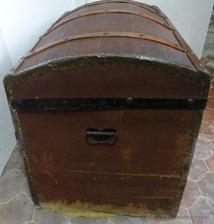 Antigüedades: BAÚL EN MADERA DE PINO SIGLO XX-286 - Foto 2 - 45731701