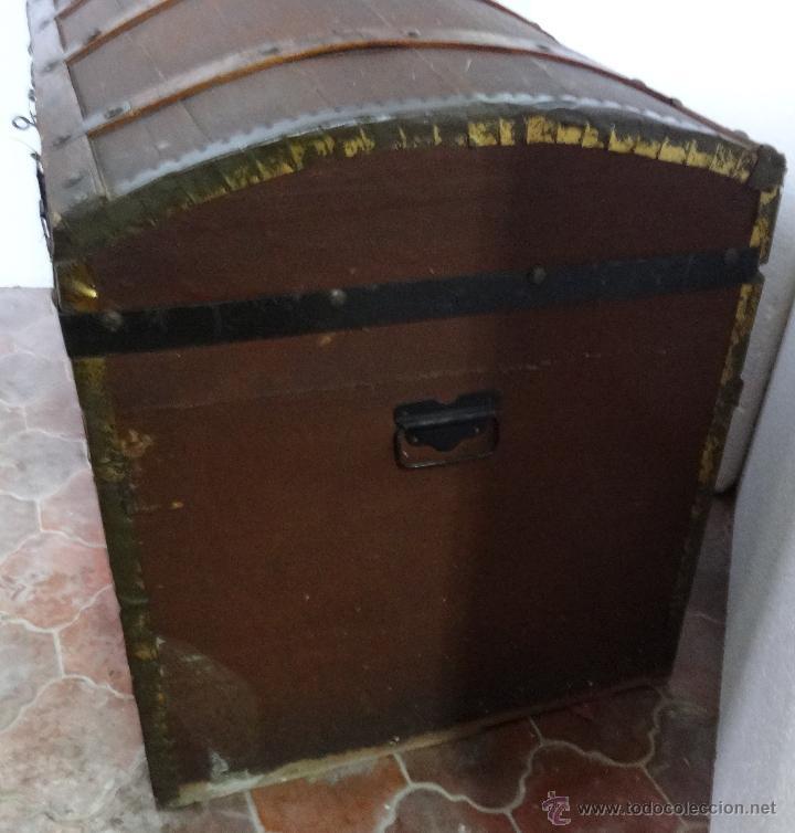 Antigüedades: BAÚL EN MADERA DE PINO SIGLO XX-286 - Foto 3 - 45731701