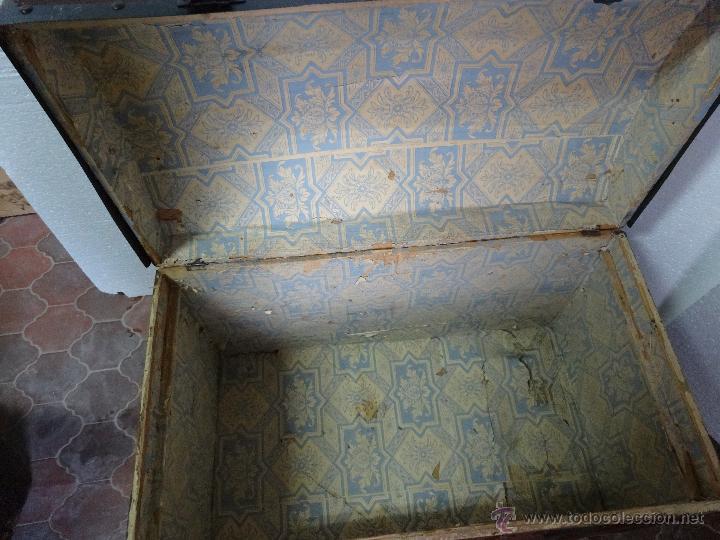 Antigüedades: BAÚL EN MADERA DE PINO SIGLO XX-286 - Foto 5 - 45731701